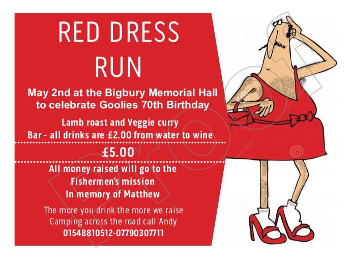 Red Dress Run –  May 2nd 2018